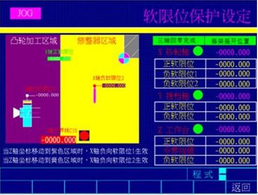 图5 软限位保护设定图